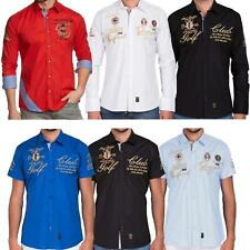 Redbridge Herren Hemd Freizeithemd Regular Fit Langarm Kurzarm Bestickt Basic