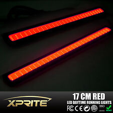 Xprite 2xDual Function Pure Red Super Bright Car COB LED DRL Fog Driving Lights