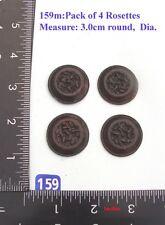 "159M ""4 Circular badges"" clock case / furniture DIY"