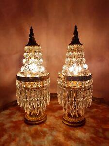 Coppia antiche abat-jour - couple brass Empire table lamps