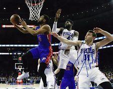 Darrun Hillard Detroit Pistons Signed Autographeded 8x10 Photo comes with Coa