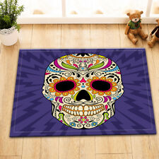 "Bathroom Mat Home Kitchen Outdoor Carpet 24x16"" Sugar Skull Floor Non-Slip Rug"