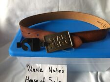 *MUSEUM SPECIMEN* Star Wars 1977 Metal Buckel Leather Belt, Tags Still On, New