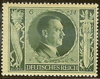 Stamp Germany Mi 845 Sc B232 1943 WW2 Fascism Hitler Birthday MNH