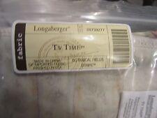 Longaberger Tv Time Basket Botanical Fields Stripe Fabric Liner New
