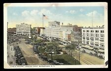 Public Square Looking West Watertown NY Postcard