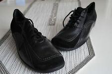 ARA Damen Comfort Schuhe Sneaker Leder leicht Einlagen schwarz Gr.42,5 / 8,5 H
