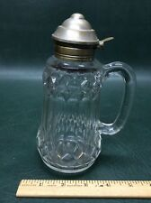 Early Antique Glass Syrup Molasses Jug Pitcher Blown Molded
