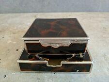 Art Deco Tisch Aschenbecher Zigaretten Box Schatulle Messing 40er Design #4