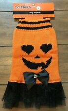 Pumpkin Sweater Tutu Dog Dress - SMALL - Halloween - Bow - Tulle - SoftTouch NWT