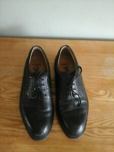 MENS BARBOUR BLACK LEATHER SHOES SIZE 8