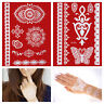 Flash White Lace Henna Tattoos Set WEISS Hand Finger temporäres Tattoo W299+305