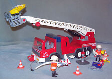PLAYMOBIL LARGE FIRE ENGINE TRUCK WITH WORKING FLASHING LIGHTS 3870 COMPLETE