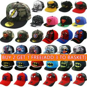 Kids Boys Summer Fashion Cartoon Baseball Hat Peaked Adjustable Snapback Caps