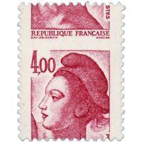 FRANCE N°2244 MARIANNE TYPE LIBERTÉ DE DELACROIX, TIMBRE PIQUAGE À CHEVAL NEUF**