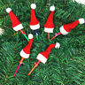 30PCS Mini Lollipop Lollypop Santa Claus Hats Cap Wrap Christmas Party Decor