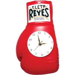 Cleto Reyes 10 oz Authentic Pro Fight Leather Clock Glove - Red