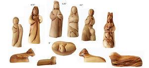 "5"" Bethlehem Olive Wood Christmas Nativity Scene Figurines from Jerusalem Israel"