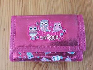 Smiggle Pink Purse Wallet Owls Design