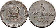 ITALIE LOMBARDY-VENETIA  5 CENTESIMI 1822 M C#3.2