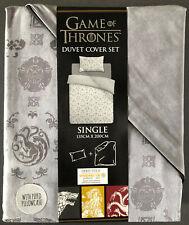 Game Of Thrones Bettwäsche 135x200cm Wendemotiv Bettbezug Single Garnitur Grau