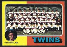 1975 TOPPS LARGE #443  MINNESOTA TWINS Team Card  ( Unmarked Boxes )  EX-MINT  A