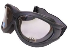 Pacific Coast The Beast 4595 Motorcycle Goggles Black Frame UV400 OTG Clear Lens