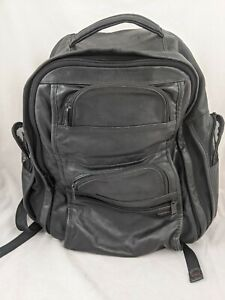 Tumi Leather Backpack Carry Laptop