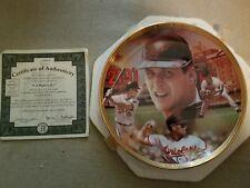 Bradford Exchange Baseball Record Breakers Cal Ripken Jr plate w/COA