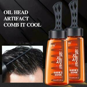 Hair Styling Gel Wax Comb Men's Hair Style Shaping Tool Oil Free Shipping S8Y7