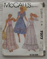 Vintage Dress Sewing Pattern*McCalls 7377*Size 9/10*UNCUT/FF*Prairie Chic*ruffle