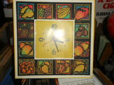 """Vintage Working General Electric """"FRUIT THEME"""" Kitchen Wall Clock"""