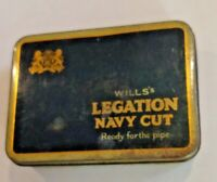 Will's Legation Navy Cut Tobacco box VINTAGE! L@@K