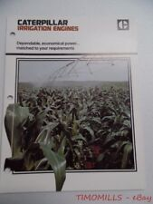 c.1975 Caterpillar Irrigation Engines Industrial Brochure Vintage Original VG