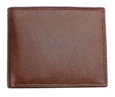 Topsum London Uomini RFID Real Leather Wallet ID finestra, con zip moneta da 4015 Marsupio Marrone