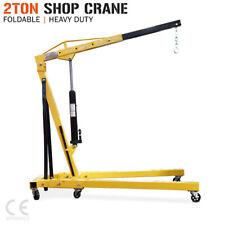 Hydraulic 2 Ton Folding Shop Crane. Mobile Engine Hoist Lifter Workshop Lift