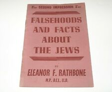 WW2 1945 Booklet FALSEHOODS & FACTS ABOUT THE JEWS by Eleanor Rathbone