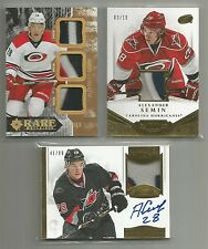 2013-14 SEMIN DOMINION AUTO JERSEY PATCH #/99 PATCH #/10 & ULTIMATE GOLD #/15