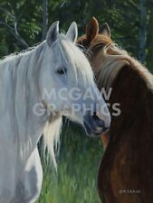 Horse Whispering by Terry Isaac Art Print Cowboy Ranch Western Poster 11x14
