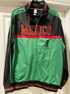 NEW MENS LARGE L 2014 BRAZIL BRASIL WORLD CUP JACKET MEXICO BLACK GREEN RED