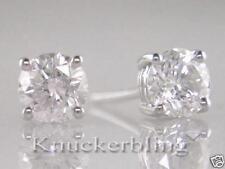 Diamond Solitaire Studs1.50ct Certified D IF Exc Round Brilliant Cut in Platinum