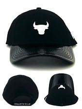 Chicago Bulls New Era 9Twenty Patent Black White 47 Dad Adjustable Hat Cap