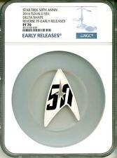 2016 Tuvalu S$1 Star Trek 50th Ann Delta Shape Reverse PF ER NGC PF70 BoxCOA OGP