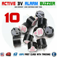 10pcs Active Buzzer Magnetic 3V Long Continous Beep Tone 12*9.5mm For Arduino