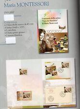 folder postali maria montessori - emesso il 05 01 2007