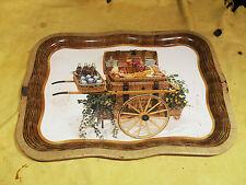 Vintage Coca Cola Tray 1958 Picnic Basket in Serving Cart