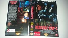 MANIAC COP 2 UK PAL VHS Medusa Big Box Video 1991 Sleeve Cover art EX RENTAL