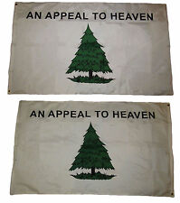 3x5 An Appeal To Heaven 2 Faced 3-ply Wind Resistant Flag 3x5ft Nylon With Liner