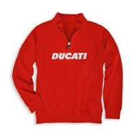Ducati Corse 1/2 Half Zip Sweatshirt Hoody Mens Motorcycle Motorbike Monster