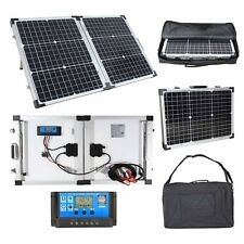 60W Portable Mono Folding Solar Panel Kit 12v Battery Charger Camping Caravans